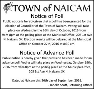 Notice of Poll & Advanced Poll